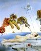 Salvador Dalì, Rêve causé par le vol d'une abeille autour d'une grenade, une seconde avant l'éveil, 1944, huile sur toile, 41cmx51cm, Madrid, Musée Thyssen-Bornemisza, http://surrealismestvincent.wikispaces.com/R%C3%AAve+caus%C3%A9+par+le+vol+d'une+abeille , ©Museo Thyssen-Bornemisza.